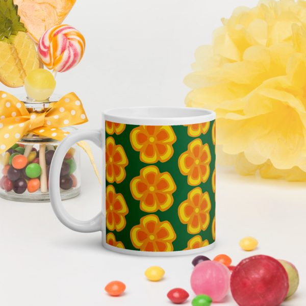 retro flowery mug from time travellers